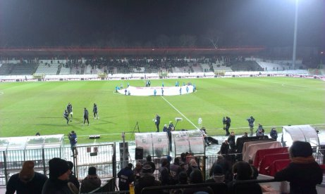 Pitch before Polonia-Lechia