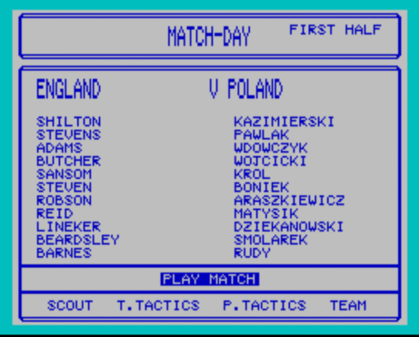 England vs Poland