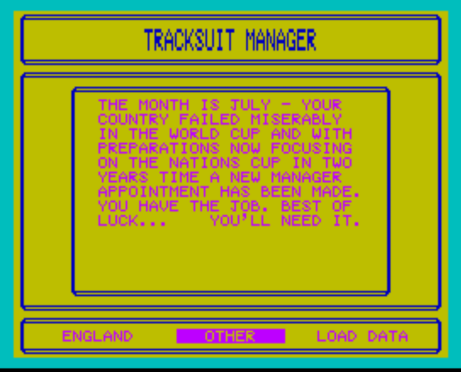 Tracksuit manager opening shot